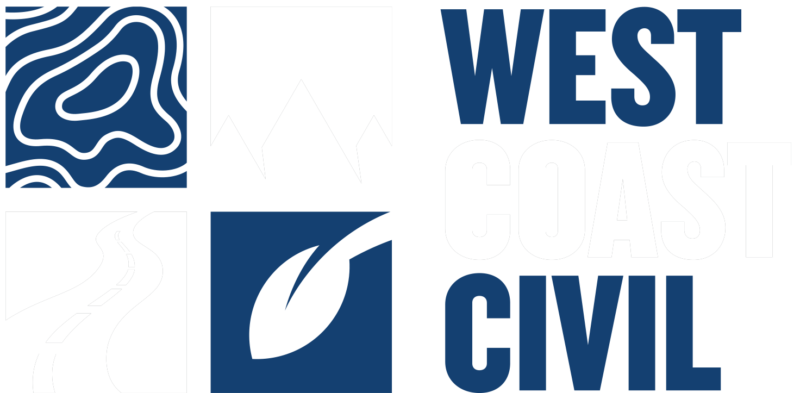 west coast civil engineering white logo
